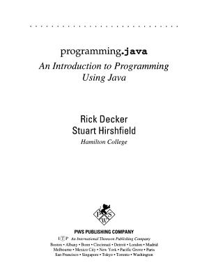 Programming Java PDF