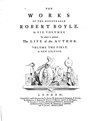 The Works of the Honourable Robert Boyle PDF