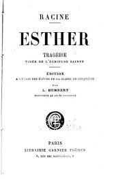 Esther: tragédie tirée de l'Écriture sainte