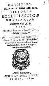 Haymonis Historiae Ecclesiasticae Breviarium