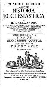 Historia Ecclesiastica: Ad annum 1750. 80