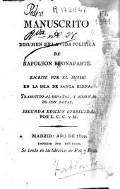 Manuscrito o resumen de la vida política de Napoleón Buonaparte