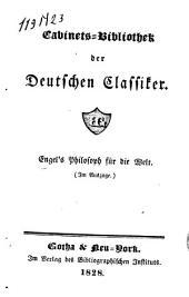 """""""Engel's"""" Philosoph für die Welt: (Im Auszuge)"""
