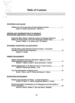 Riparian Ecosystems in the Humid U S  PDF