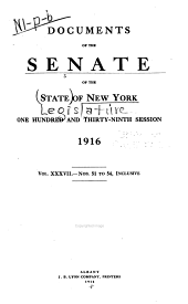 Documents of the Senate of the State of New York: Volume 37
