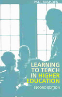 Learning to Teach in Higher Education PDF