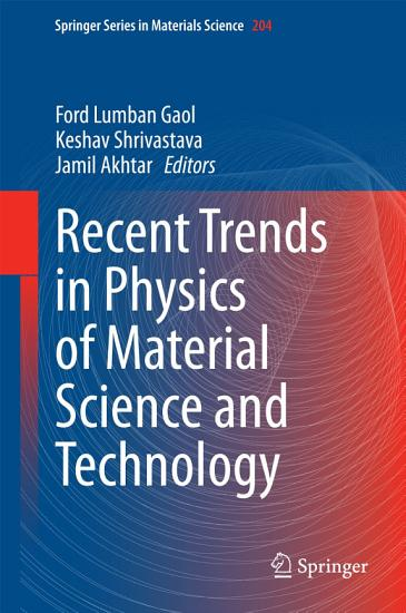 Recent Trends in Physics of Material Science and Technology PDF