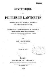 Statistique des peuples de l'antiquité