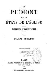 Le Piémont dans les États de l'Église: documents et commentaires