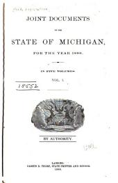 Joint Documents of the State of Michigan: Volume 1