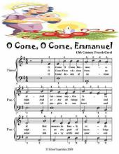 O Come O Come Emmanuel - Easy Piano Sheet Music