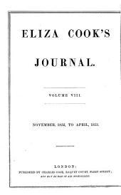 Eliza Cook's Journal: Volume 8