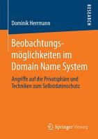 Beobachtungsm  glichkeiten im Domain Name System PDF