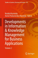 Developments in Information & Knowledge Management for Business Applications