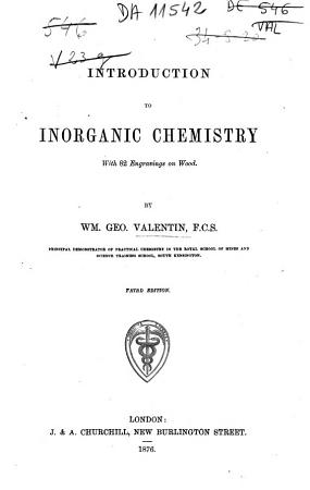 Introduction to Inorganic Chemistry PDF