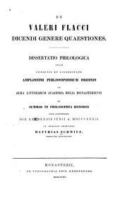 De Valeri Flacci dicendi genere quaestiones