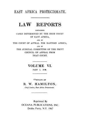 Law Reports of Kenya PDF