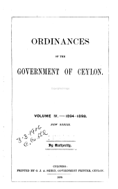 The Ordinances of Ceylon