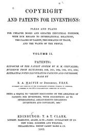 Copyright and Patents for Inventions: Volume 2