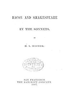 Bacon and Shakespeare in the Sonnets