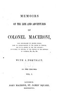 M  moirs of the life and adventures of Colonel Maceroni  late aide de camp to Joachim Murat  king of Naples     With a portrait PDF