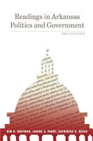 Readings in Arkansas Politics and Government PDF