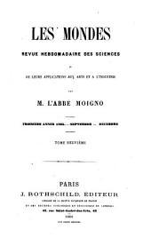 Le Cosmos; revue des sciences et de leurs applications: Volume9