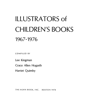 Illustrators of Children's Books, 1967-1976