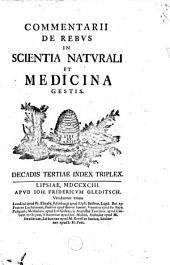 Commentarii de rebus in scientia naturali et medicina gestis