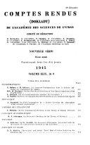 Comptes Rendus (Doklady) de L'Académie Des Sciences de L'URSS.