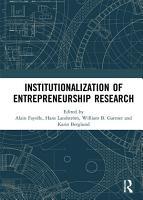 Institutionalization of Entrepreneurship Research PDF