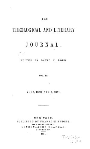 The Theological and Literary Journal