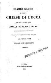 Diario sacro delle chiese di Lucca: accomodato all'uso dei tempi presenti di Monsignore Giovan Domenico Mansi