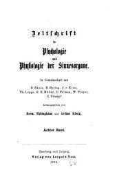 Zeitschrift für Psychologie und Physiologie der Sinnesorgane: Band 8