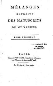 Mélanges extraits des manuscrits de Mme Necker