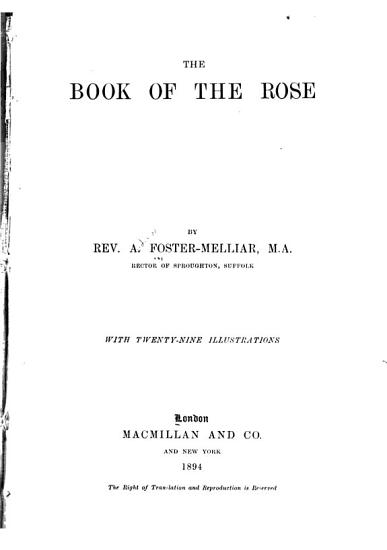 The Book of the Rose PDF