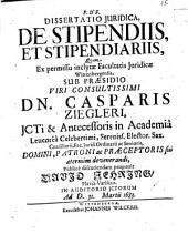 Diss. iur. de stipendiis et stipendiariis