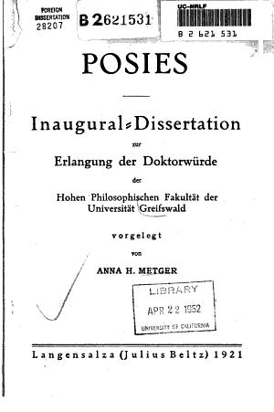 Posies PDF