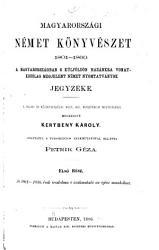 Ungarns deutsche bibliographie 1801 1860 PDF