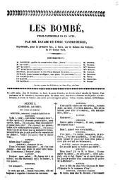 Les bombé, folie-vaudeville en un acte par MM. Bayard et Émile Vander-Burch