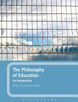 The Philosophy of Education  An Introduction PDF