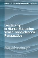 Leadership in Higher Education from a Transrelational Perspective PDF