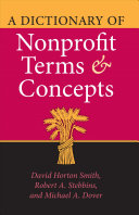 A Dictionary of Nonprofit Terms and Concepts PDF