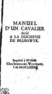 MANUEL D'UN CAVALIER