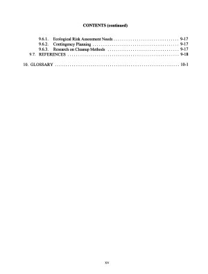 Ecological Risk Assessment in the Federal Government