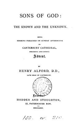 Sons of God  the known and the unknown  sermons PDF