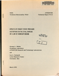 Effects of Steady state Pressure Distortion on the Stall Margin of a J85 21 Turbojet Engine
