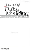 JOURNAL OF POLICY MODELING  A SOCIAL SCIENCE FORUM OF WORLD ISSUES PDF