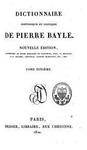 Dictionnaire historique et critique: Volume10