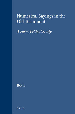 Numerical Sayings in the Old Testament